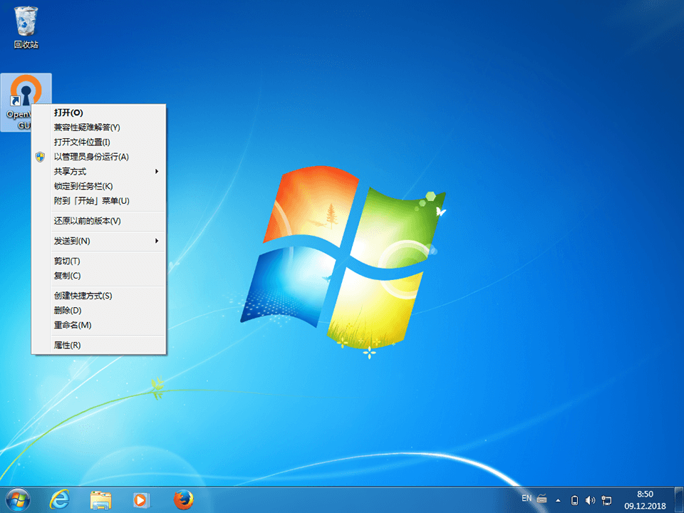 Setting up OpenVPN on Windows 7, step 9