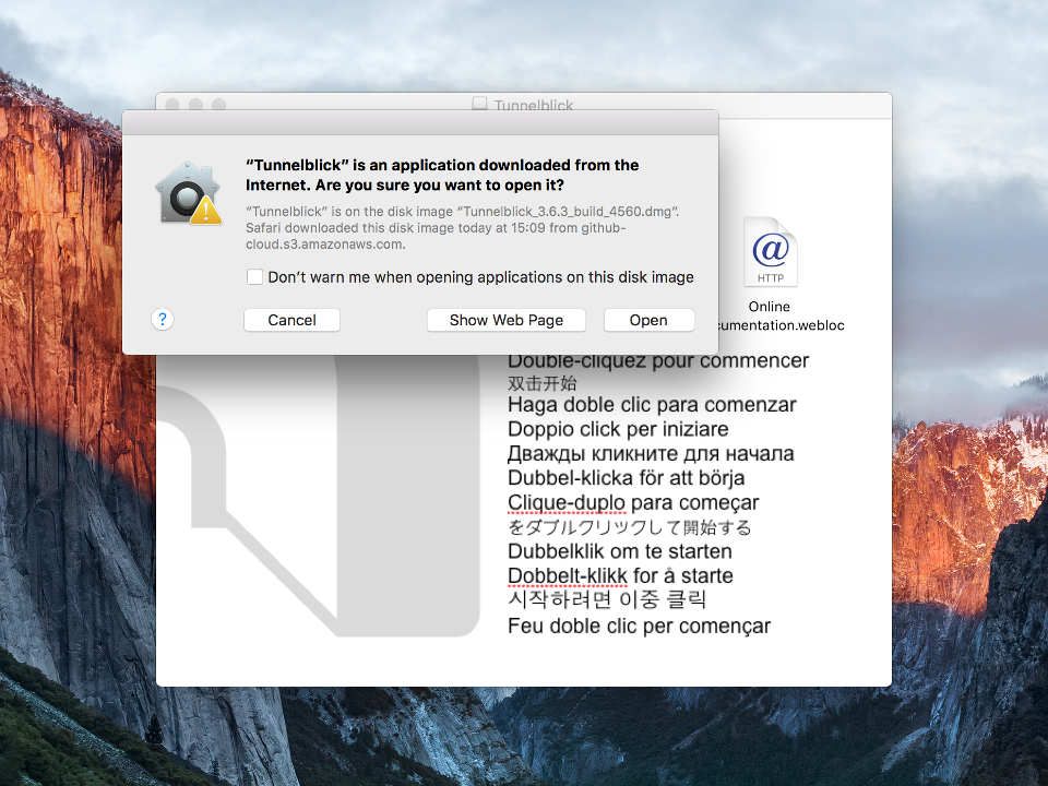 Setting up OpenVPN on Mac OS X, step 3