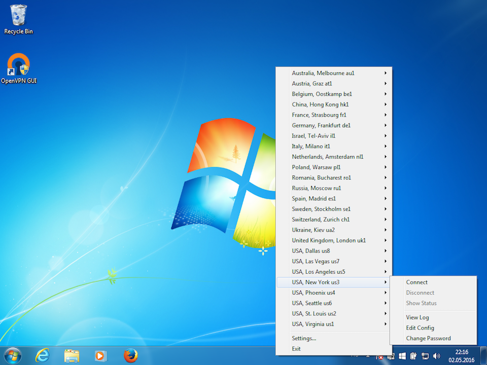 Setting up OpenVPN on Windows 7, step 16