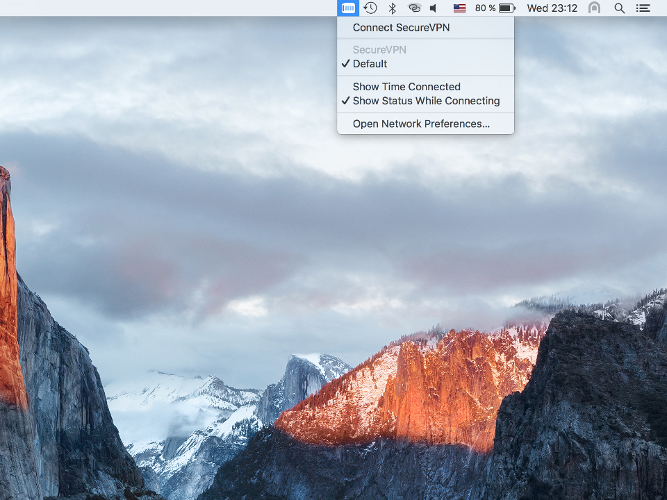 Setting up PPTP VPN on Mac OS X, step 9