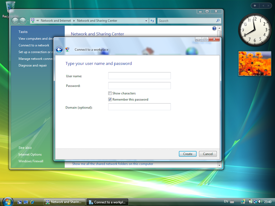 Setting up PPTP VPN on Windows Vista, step 6
