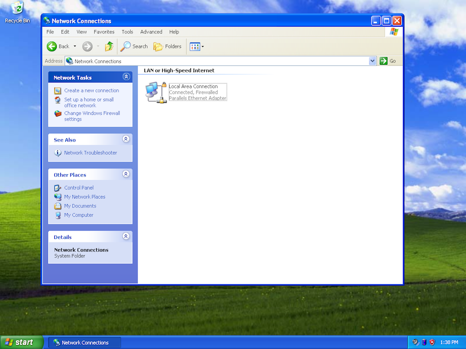 Setting up PPTP VPN on Windows XP, step 2