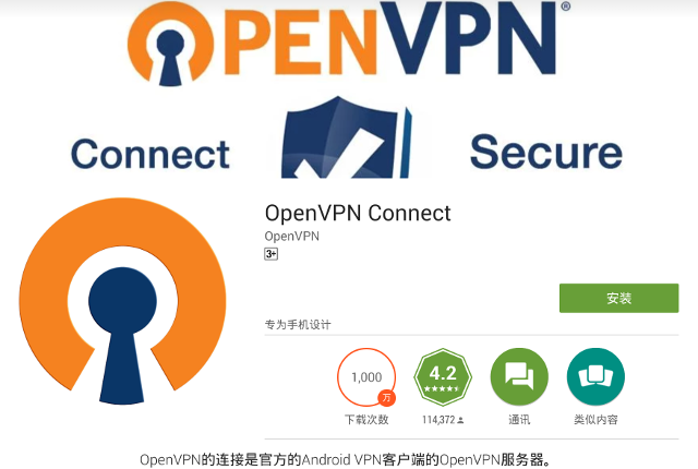 Setting up OpenVPN on Android, step 1