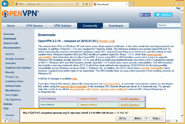 Setting up OpenVPN on Windows 8, step 1