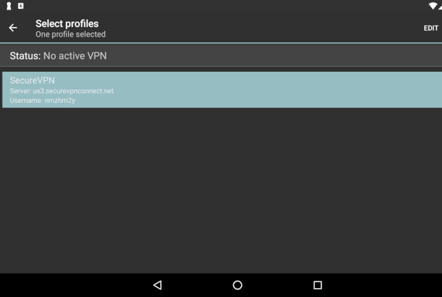 Setting up IKEv2 VPN on Android, step 7
