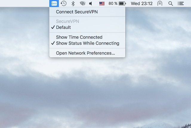 Setting up IKEv2 VPN on Mac OS X, step 7