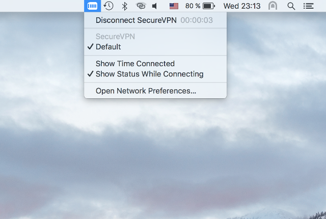 Setting up IKEv2 VPN on Mac OS X, step 8