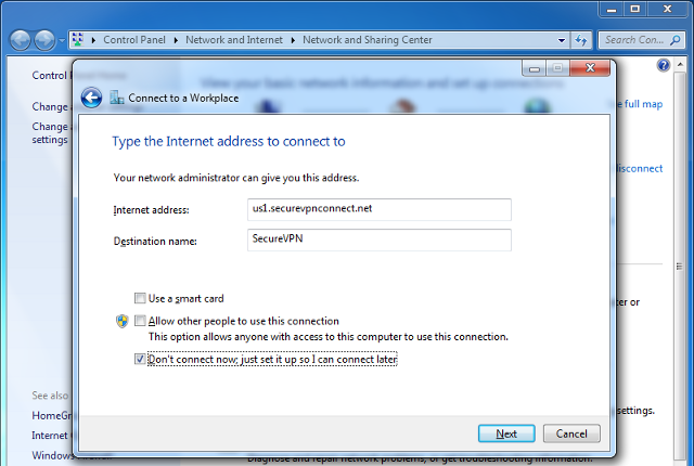 Setting up IKEv2 VPN on Windows 7, step 5