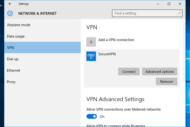 Setting up L2TP VPN on Windows 10, step 11