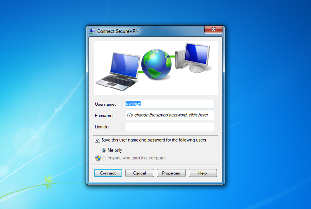 Setting up L2TP VPN on Windows 7, step 13