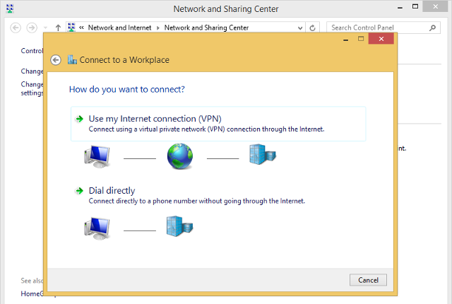 Setting up L2TP VPN on Windows 8, step 5