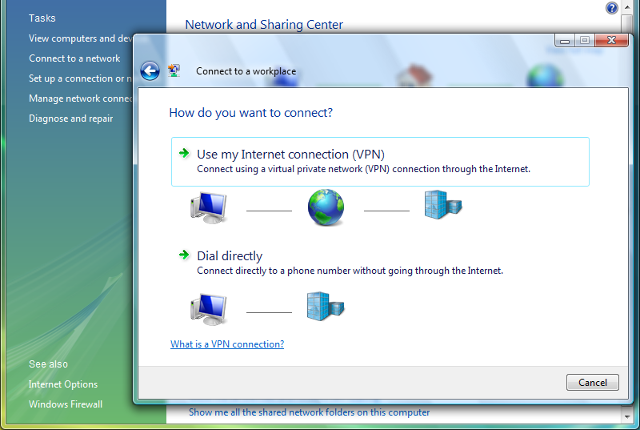 Setting up L2TP VPN on Windows Vista, step 4