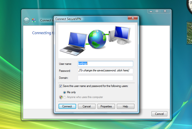 Setting up L2TP VPN on Windows Vista, step 13