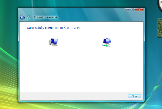 Setting up L2TP VPN on Windows Vista, step 14