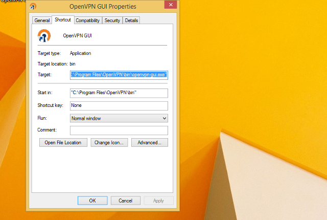 Setting up OpenVPN on Windows 8, step 10