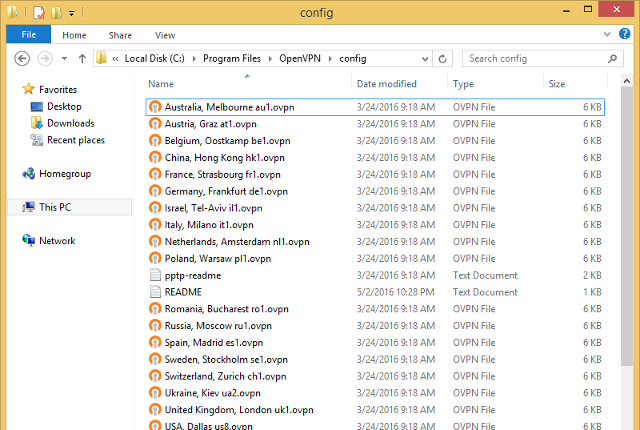 Setting up OpenVPN on Windows 8, step 13