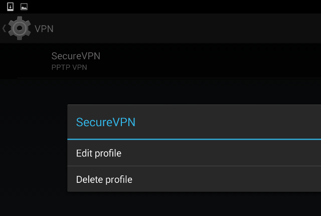 Setting up PPTP VPN on Android, step 8