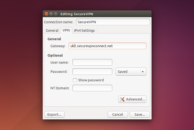 Setting up PPTP VPN on Linux, step 11