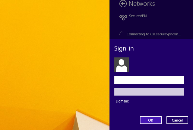 Setting up PPTP VPN on Windows 8, step 12