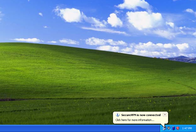 Setting up PPTP VPN on Windows XP, step 12