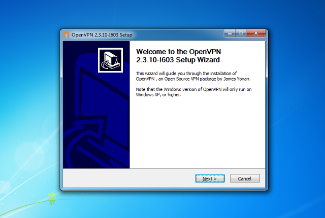 Настройка OpenVPN на Windows 7, шаг 3