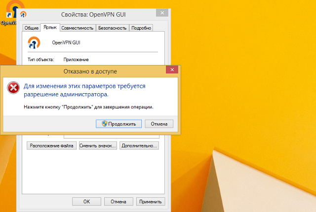 Настройка OpenVPN на Windows 8, шаг 12