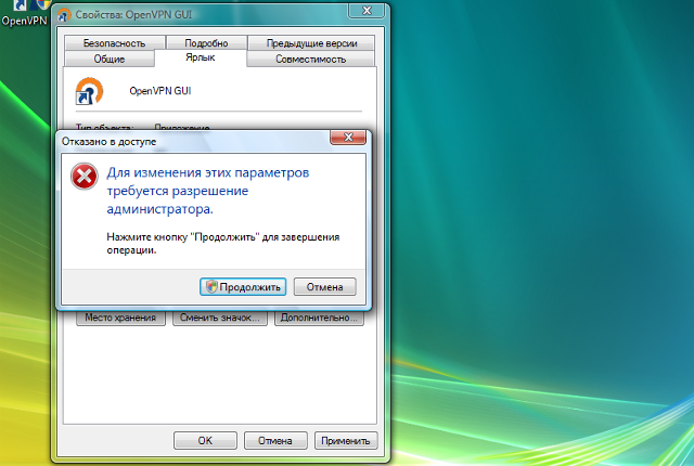 Настройка OpenVPN на Windows Vista, шаг 12