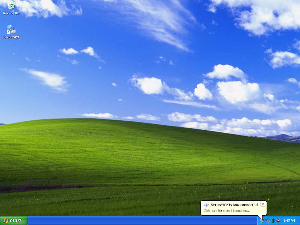 Setting up L2TP VPN on Windows XP, step 13