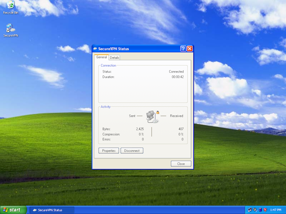 Setting up L2TP VPN on Windows XP, step 14