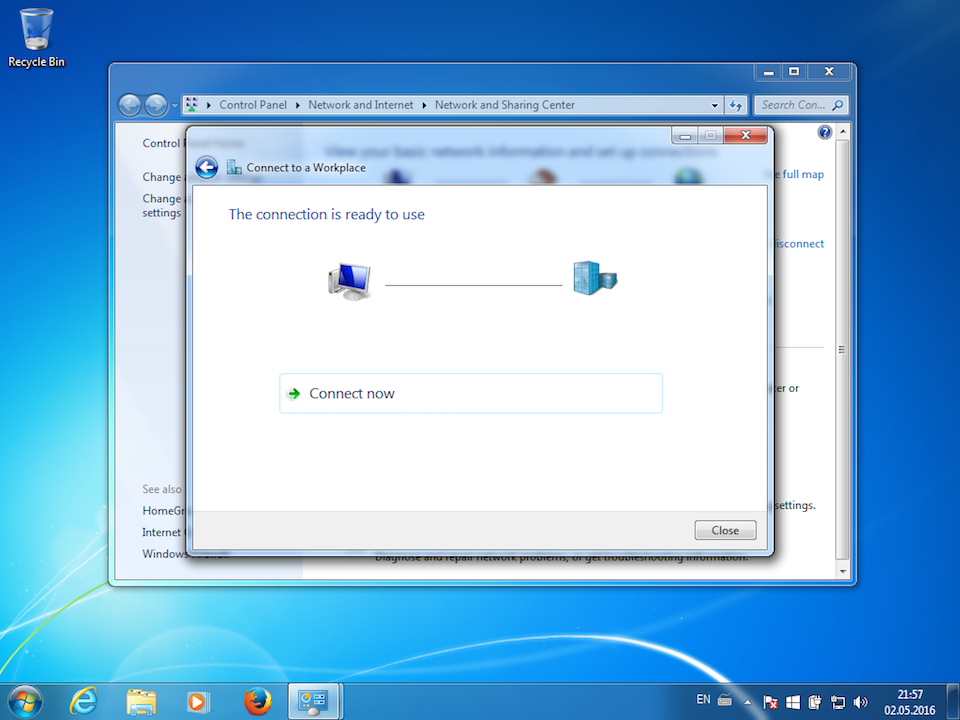Setting up PPTP VPN on Windows 7, step 7