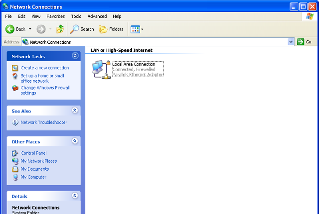 Setting up L2TP VPN on Windows XP, step 2
