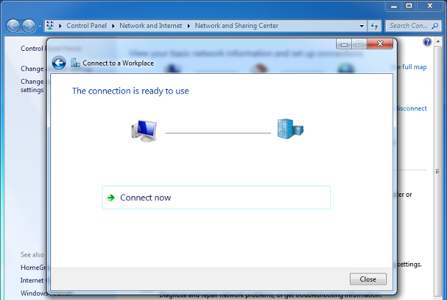 Setting up L2TP VPN on Windows 7, step 7
