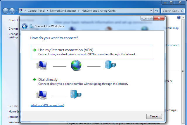 Setting up PPTP VPN on Windows 7, step 4