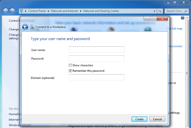 Setting up PPTP VPN on Windows 7, step 6